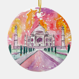 Taj Mahal India Ceramic Ornament