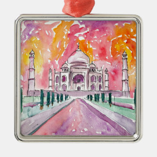 Taj Mahal India Metal Ornament