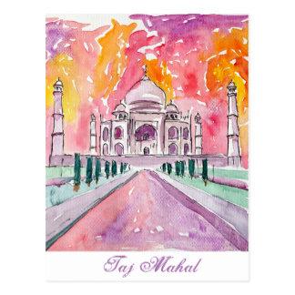 Taj Mahal India Postcard