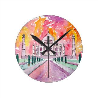 Taj Mahal India Round Clock