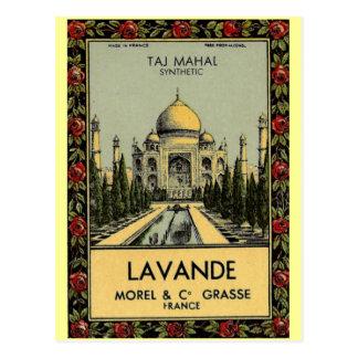 Taj Mahal Lavande Postcard