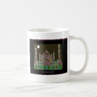 TAJ Mahal Mughal Architecture India Agra Heritage Basic White Mug