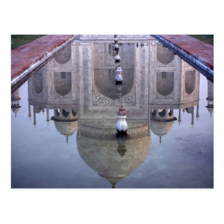 Taj Mahal reflection, Agra, Uttar Pradesh, Postcard
