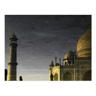Taj Mahal reflection on water at dawn  with high Postcard