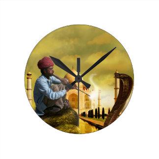 Taj Mahal Round Clock