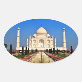 Taj Mahal Oval Sticker