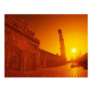 Taj Mahal Sunset Postcard
