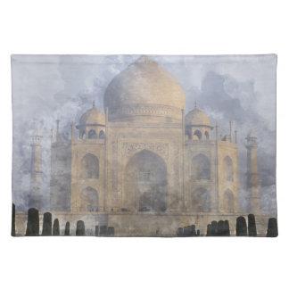 Taj Mahal Watercolor Placemat