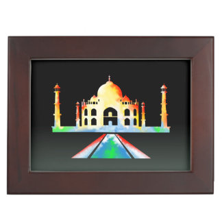 Taj Mahal Watercolour Painting Memory Boxes