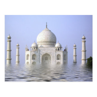 Taj-Mahal with water Postcard