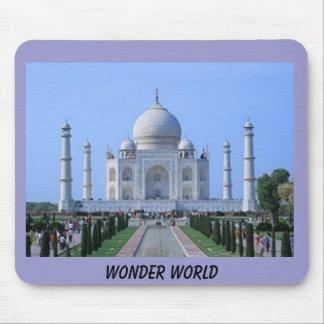 taj mahal, WONDER WORLD Mouse Pad