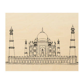 Taj Mahal Wood Wall Decor