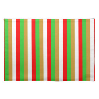 Tajikistan flag stripes color lines pattern placemat