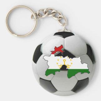 Tajikistan football soccer keychain
