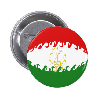 Tajikistan Gnarly Flag Buttons