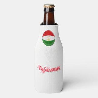 Tajikistan Tajikistani Red & White Flag Bottle Cooler
