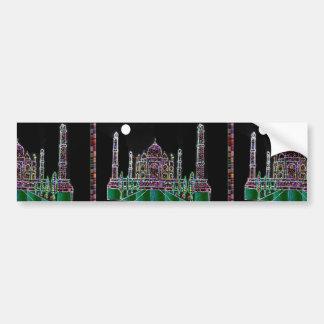 TAJMAHAL Palace Mughal Memorial Landmark Building Bumper Sticker