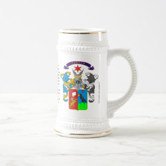 Takacs, the Origin, the Meaning and the Crest Beer Stein
