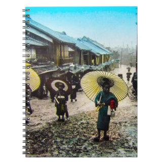 TAKAGI Glass Magic Lantern Slide School Children Spiral Note Book
