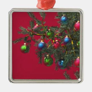 Take a Bough Silver-Colored Square Decoration