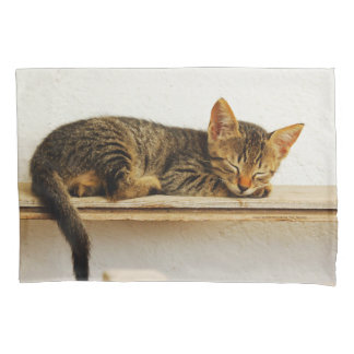 Take a cat nap with a cat! pillowcase