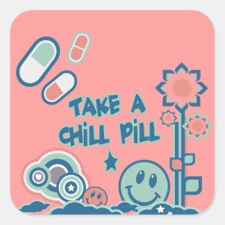 Take a Chill Pill Square Sticker