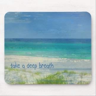 Take a Deep Breath Ocean Mousepad