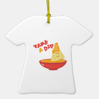 Take A Dip Double-Sided T-Shirt Ceramic Christmas Ornament