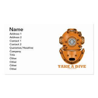 Take A Dive (Deep Diving Helmet Oceanographer) Pack Of Standard Business Cards