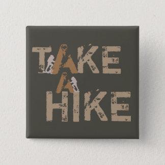 Take a Hike 15 Cm Square Badge