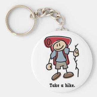 Take a Hike Basic Round Button Key Ring
