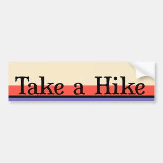Take a Hike Bumper Sticker