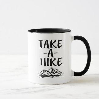 Take a Hike funny saying coffee mug