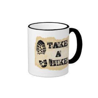 Take A Hike Ringer Coffee Mug