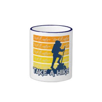Take a Hike mug, customizable - choose style Ringer Mug