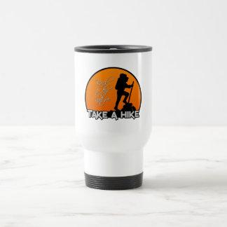 Take a Hike mug, customizable - choose style Travel Mug