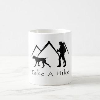 Take a Hike Mug-Weimaraner Mountains Basic White Mug