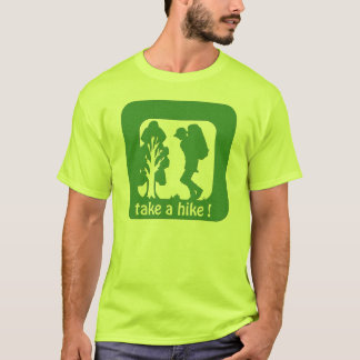 take a hike the outdoors  safety tshirts
