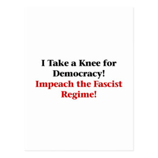 Take a Knee for Democracy Postcard