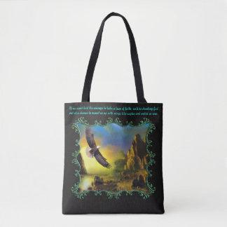Take a leap of faith.. tote bag