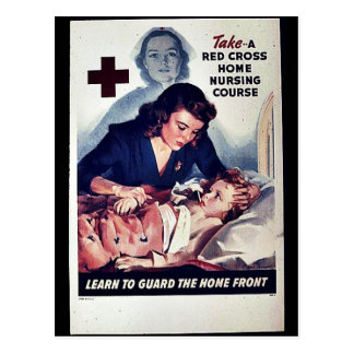 Take-A Red Gross Home Nursing Course Post Card