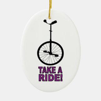Take A Ride Christmas Tree Ornament