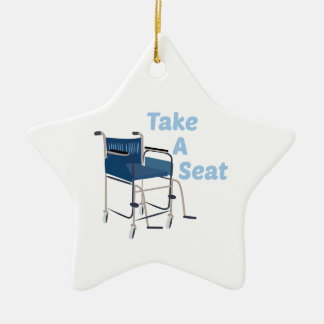 Take A Seat Ceramic Star Decoration