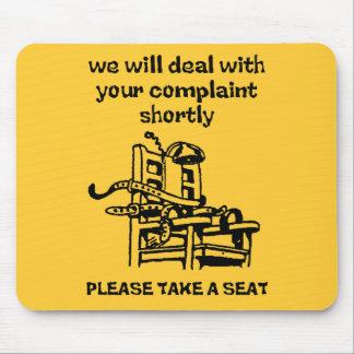Take A Seat Funny Mousepad Humor