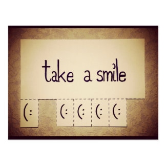 Take a Smile Inspirational Postcard