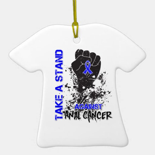 Take a Stand Against Anal Cancer Christmas Ornaments