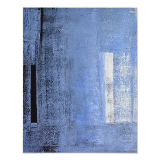 'Take A Stand' Blue Abstract Art Poster