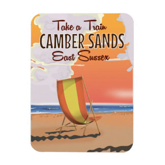 Take a train to Camber Sands Travel Poster Magnet