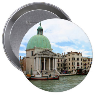 Take a trip down the Grand Canal in Venice 10 Cm Round Badge
