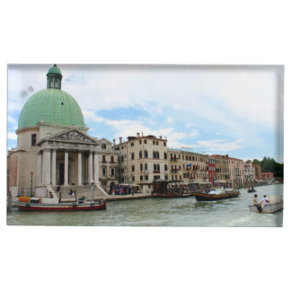 Take a trip down the Grand Canal in Venice Table Card Holder